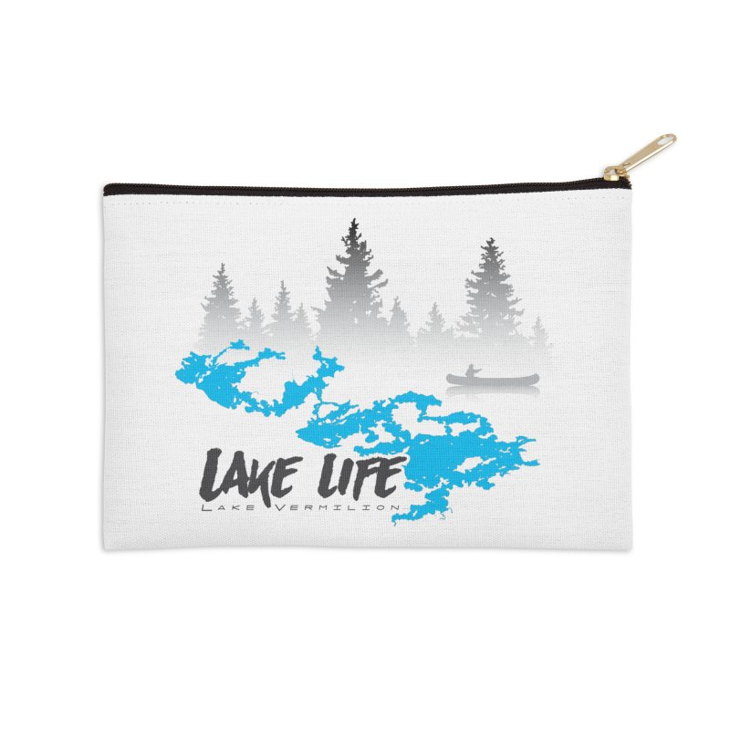 Lake Vermilion | Lake Life | Darker Lettering Accessories Zip Pouch by Your Lake Apparel & Accessories