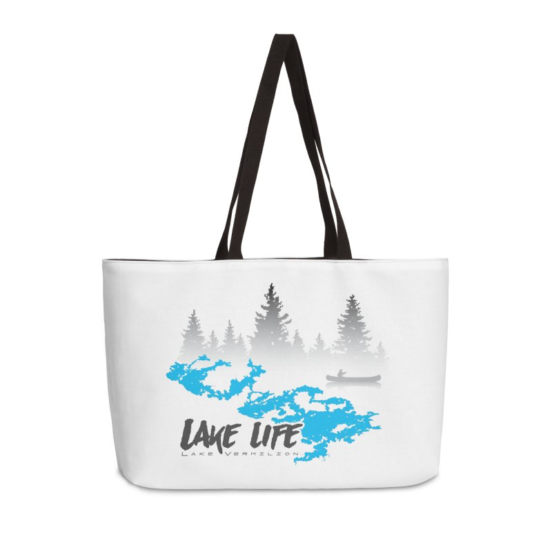 Lake Vermilion | Lake Life | Darker Lettering Accessories Weekender Bag Bag by Your Lake Apparel & Accessories