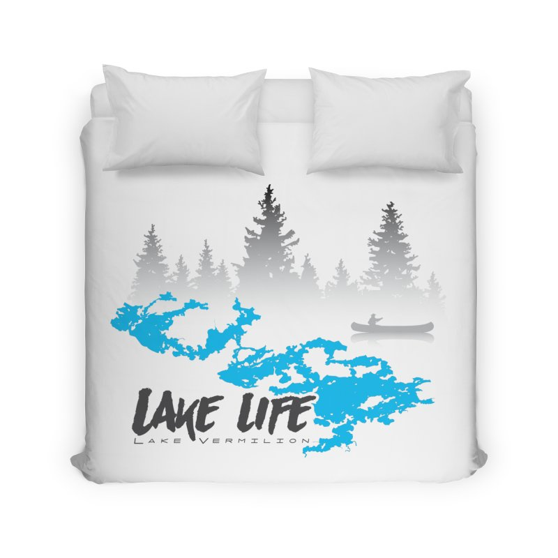 Lake Vermilion | Lake Life | Darker Lettering Home Duvet by Your Lake Apparel & Accessories