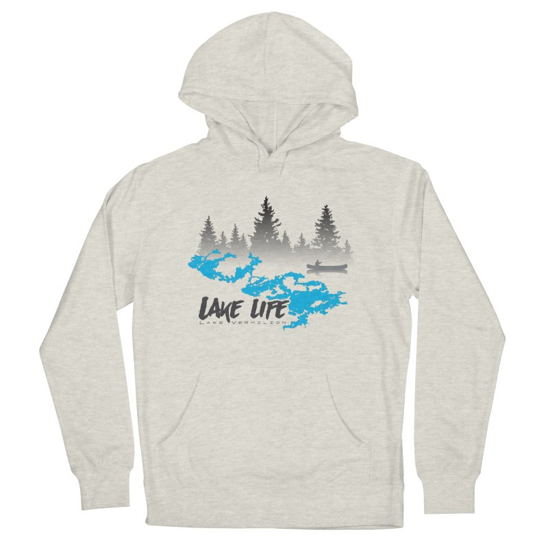Lake Vermilion | Lake Life | Darker Lettering Men's French Terry Pullover Hoody by Your Lake Apparel & Accessories
