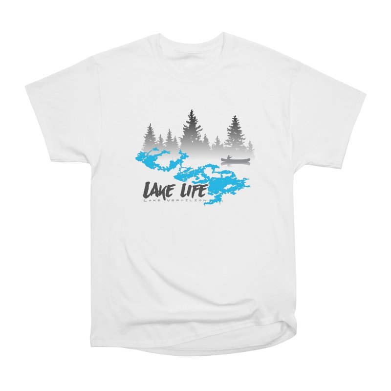 Lake Vermilion | Lake Life | Darker Lettering Men's Heavyweight T-Shirt by Your Lake Apparel & Accessories