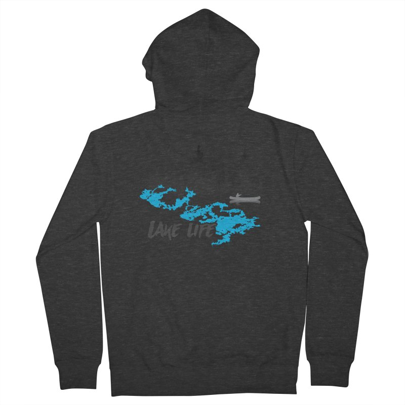 Lake Vermilion | Lake Life | Darker Lettering Women's French Terry Zip-Up Hoody by Your Lake Apparel & Accessories