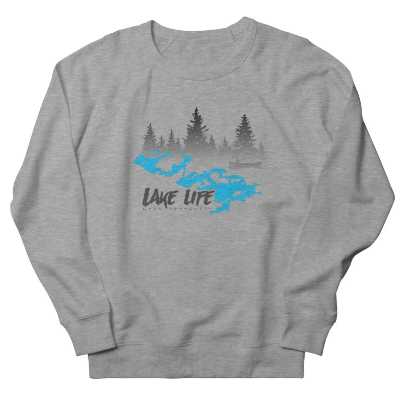 Lake Vermilion | Lake Life | Darker Lettering Men's French Terry Sweatshirt by Your Lake Apparel & Accessories