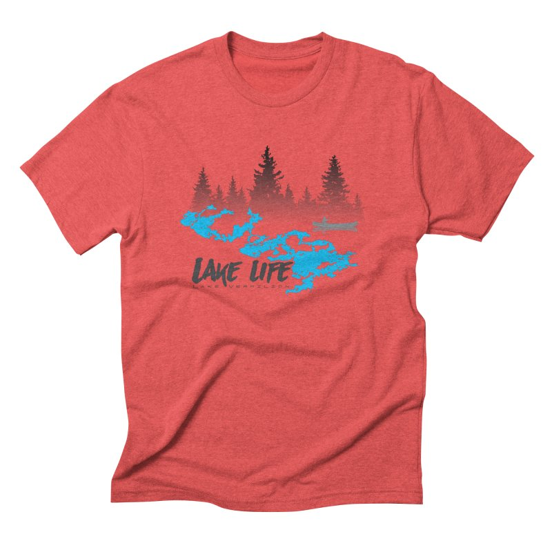 Lake Vermilion | Lake Life | Darker Lettering Men's Triblend T-Shirt by Your Lake Apparel & Accessories
