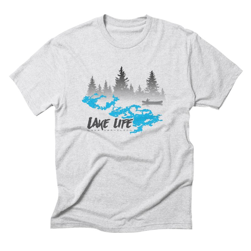 Lake Vermilion   Lake Life   Darker Lettering Men's Triblend T-Shirt by Your Lake Apparel & Accessories