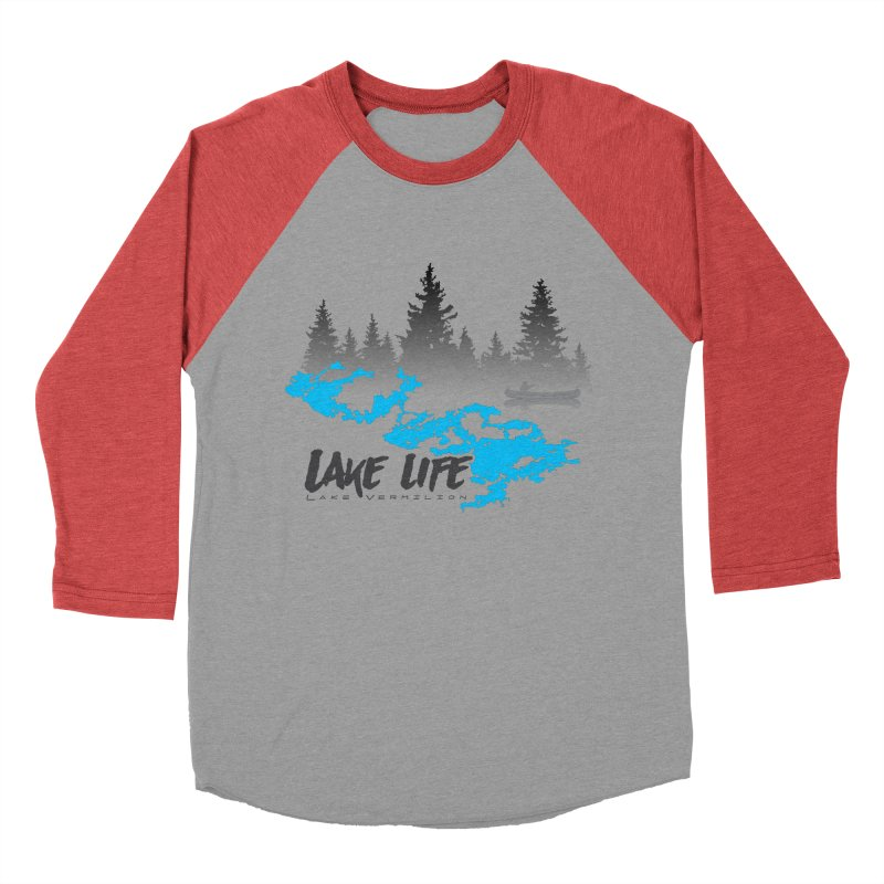 Lake Vermilion | Lake Life | Darker Lettering Men's Baseball Triblend Longsleeve T-Shirt by Your Lake Apparel & Accessories