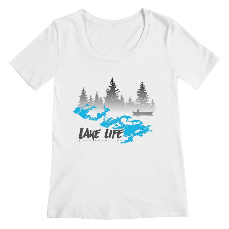 Lake Vermilion | Lake Life | Darker Lettering Women's Regular Scoop Neck by Your Lake Apparel & Accessories