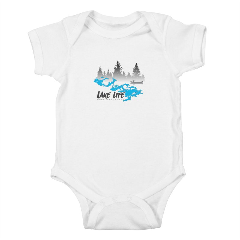Lake Vermilion | Lake Life | Darker Lettering Kids Baby Bodysuit by Your Lake Apparel & Accessories