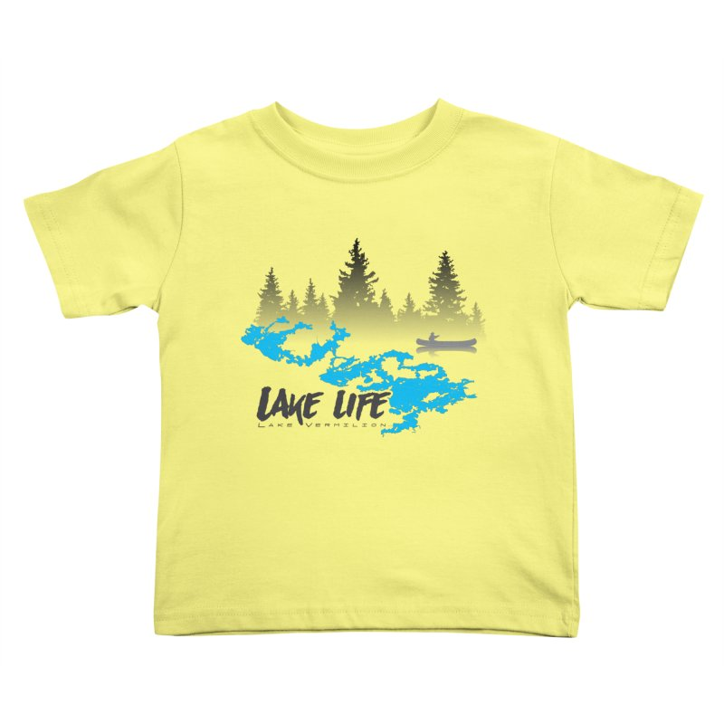 Lake Vermilion | Lake Life | Darker Lettering Kids Toddler T-Shirt by Your Lake Apparel & Accessories