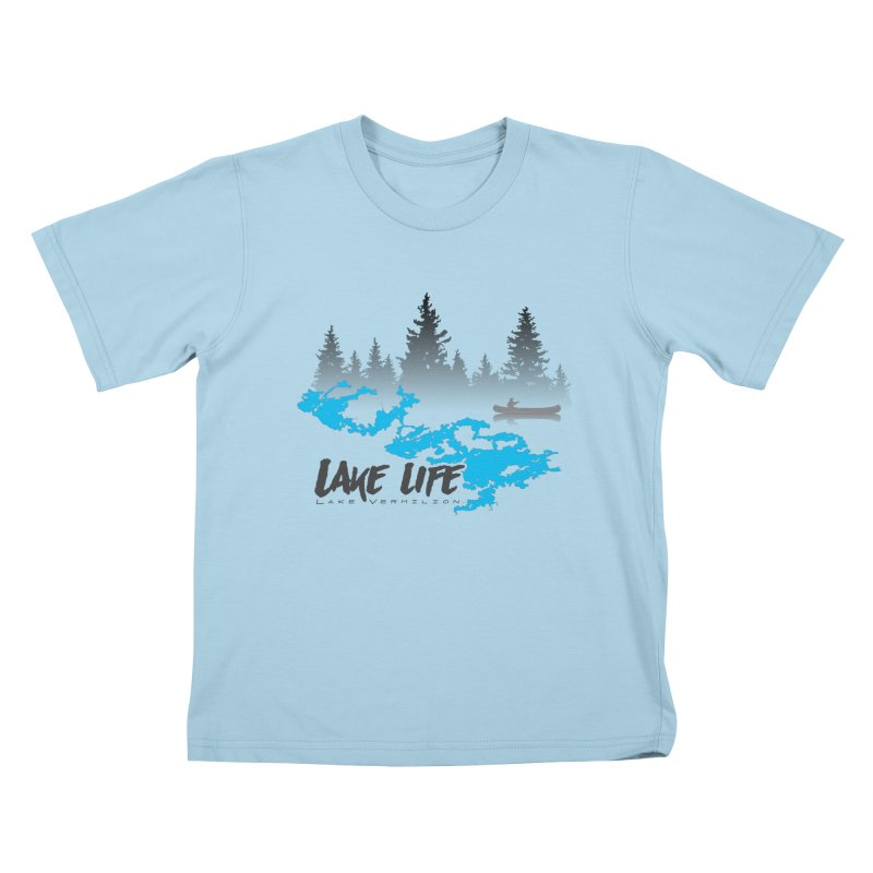 Lake Vermilion | Lake Life | Darker Lettering Kids T-Shirt by Your Lake Apparel & Accessories
