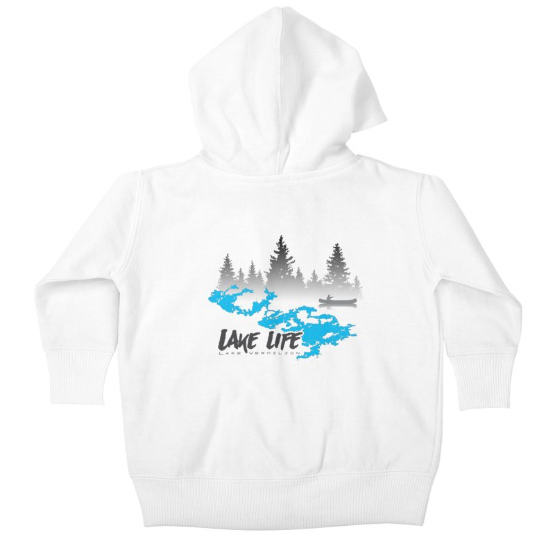 Lake Vermilion | Lake Life | Darker Lettering Kids Baby Zip-Up Hoody by Your Lake Apparel & Accessories