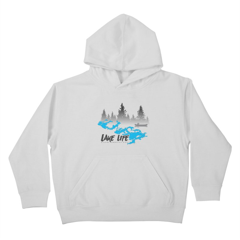 Lake Vermilion | Lake Life | Darker Lettering Kids Pullover Hoody by Your Lake Apparel & Accessories
