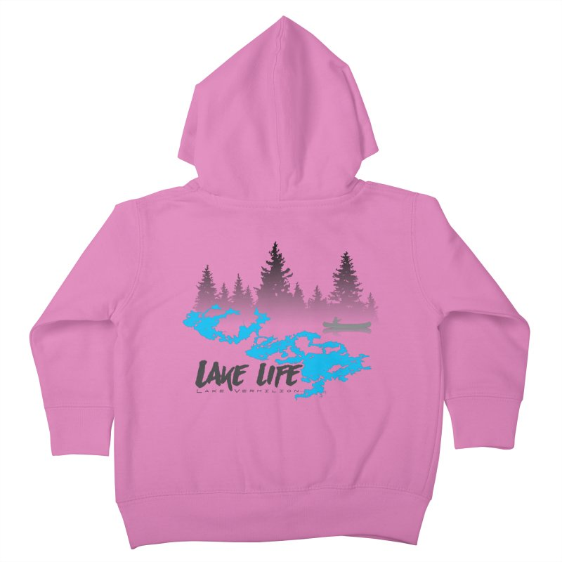 Lake Vermilion | Lake Life | Darker Lettering Kids Toddler Zip-Up Hoody by Your Lake Apparel & Accessories