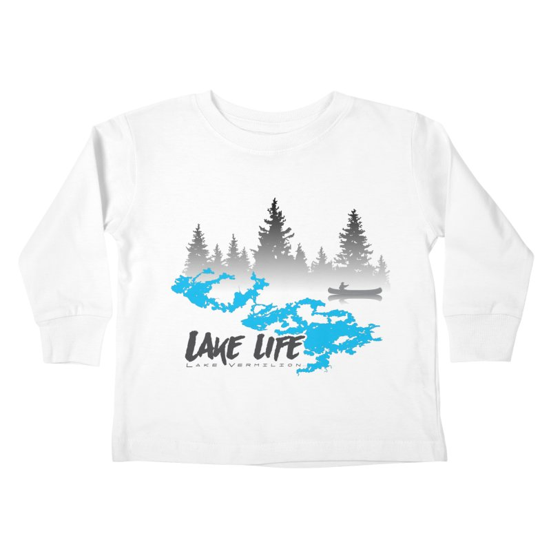 Lake Vermilion | Lake Life | Darker Lettering Kids Toddler Longsleeve T-Shirt by Your Lake Apparel & Accessories
