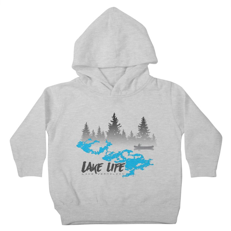 Lake Vermilion | Lake Life | Darker Lettering Kids Toddler Pullover Hoody by Your Lake Apparel & Accessories