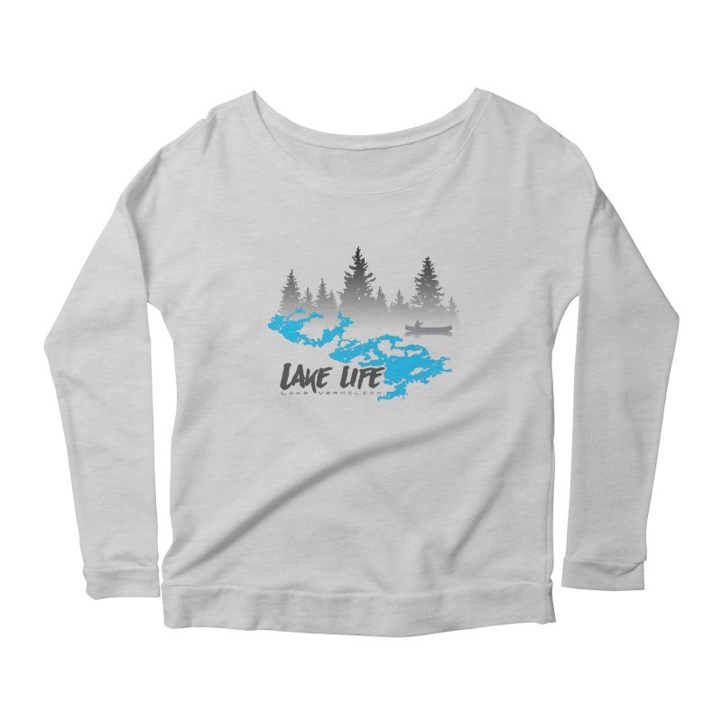 Lake Vermilion | Lake Life | Darker Lettering Women's Scoop Neck Longsleeve T-Shirt by Your Lake Apparel & Accessories