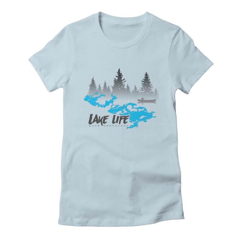 Lake Vermilion | Lake Life | Darker Lettering Women's Fitted T-Shirt by Your Lake Apparel & Accessories