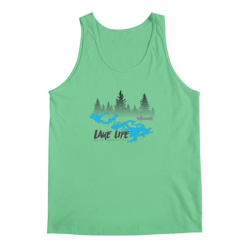 Lake Vermilion | Lake Life | Darker Lettering Men's Regular Tank by Your Lake Apparel & Accessories