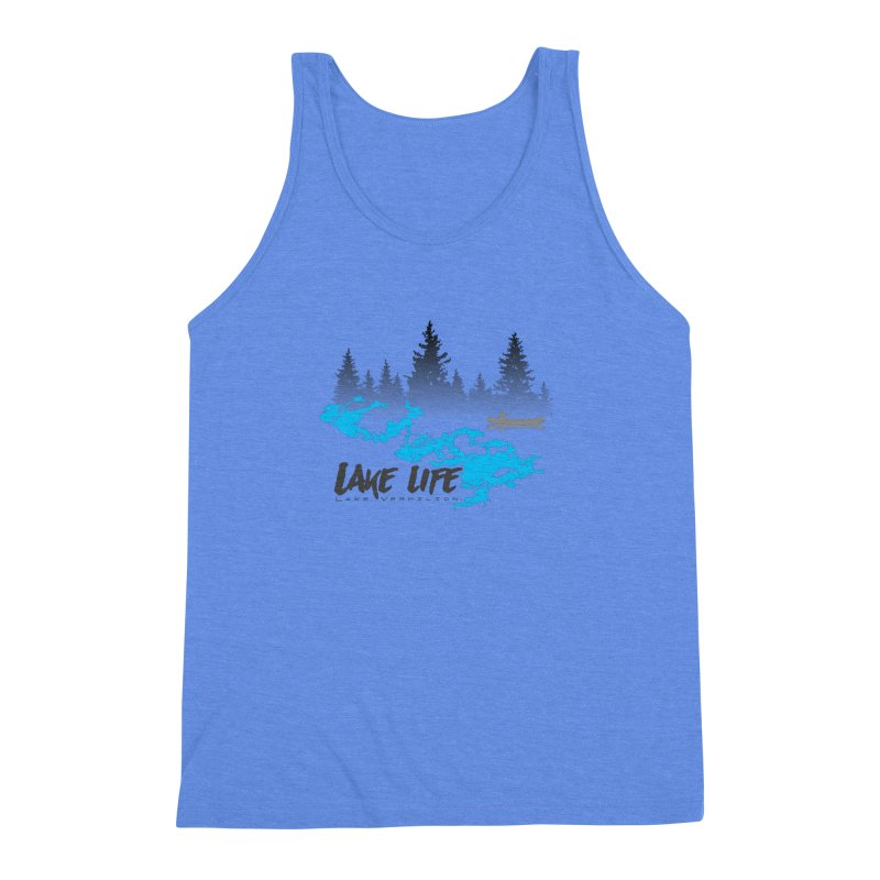 Lake Vermilion | Lake Life | Darker Lettering Men's Triblend Tank by Your Lake Apparel & Accessories