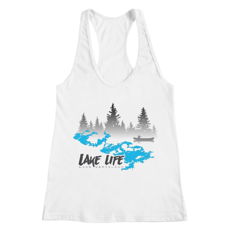 Lake Vermilion | Lake Life | Darker Lettering Women's Racerback Tank by Your Lake Apparel & Accessories