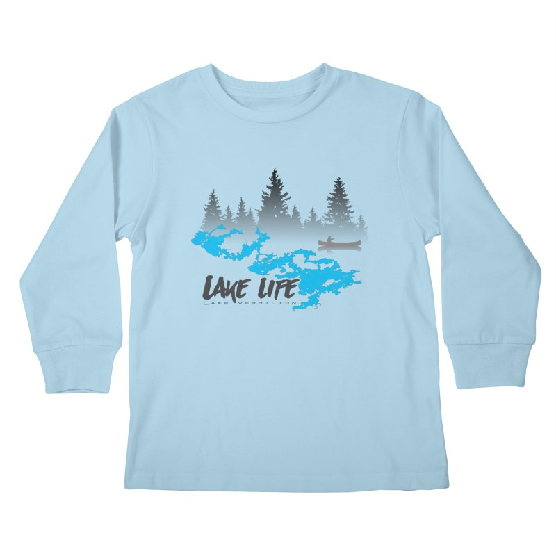 Lake Vermilion   Lake Life   Darker Lettering Kids Longsleeve T-Shirt by Your Lake Apparel & Accessories