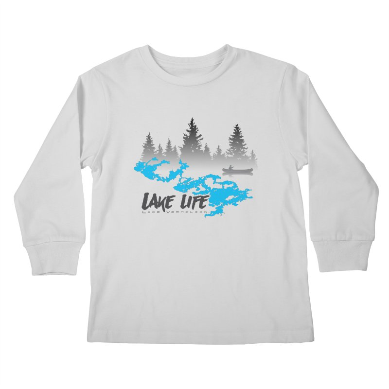 Lake Vermilion | Lake Life | Darker Lettering Kids Longsleeve T-Shirt by Your Lake Apparel & Accessories