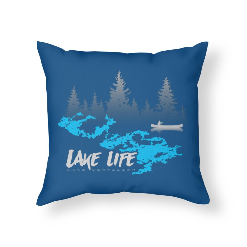 Lake Vermilion | Lake Life | Light Lettering Home Throw Pillow by Your Lake Apparel & Accessories