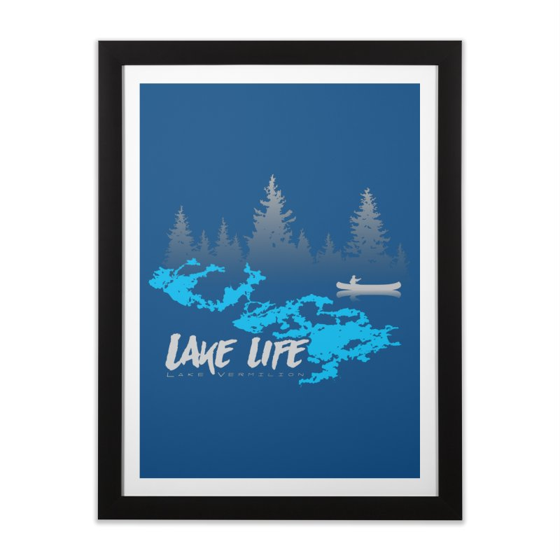 Lake Vermilion | Lake Life | Light Lettering Home Framed Fine Art Print by Your Lake Apparel & Accessories