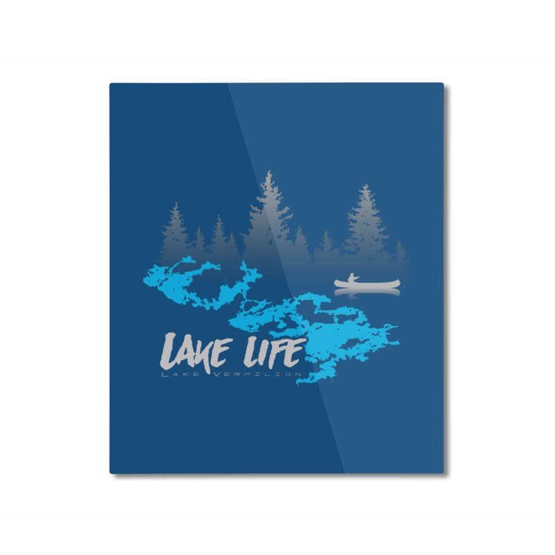 Lake Vermilion | Lake Life | Light Lettering Home Mounted Aluminum Print by Your Lake Apparel & Accessories