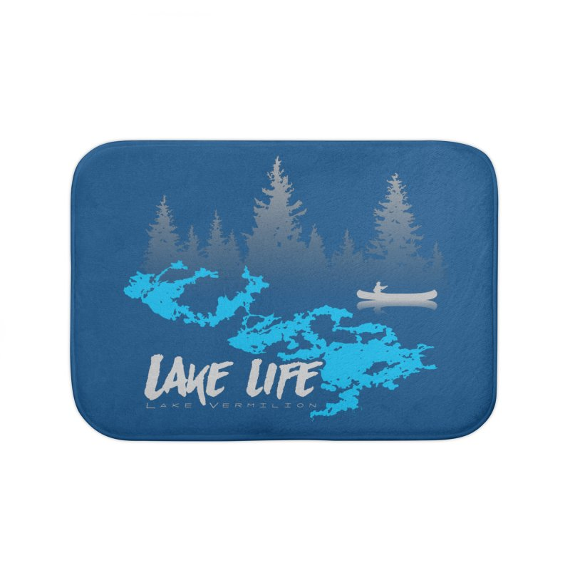 Lake Vermilion | Lake Life | Light Lettering Home Bath Mat by Your Lake Apparel & Accessories