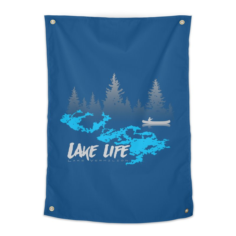 Lake Vermilion | Lake Life | Light Lettering Home Tapestry by Your Lake Apparel & Accessories