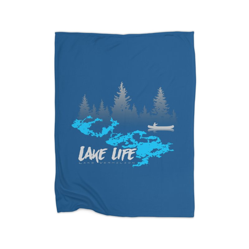 Lake Vermilion | Lake Life | Light Lettering Home Fleece Blanket Blanket by Your Lake Apparel & Accessories