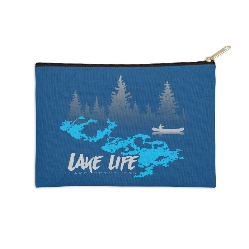 Lake Vermilion | Lake Life | Light Lettering Accessories Zip Pouch by Your Lake Apparel & Accessories