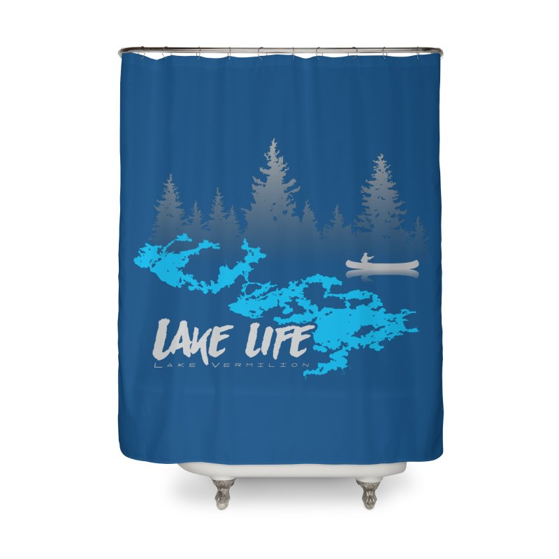 Lake Vermilion | Lake Life | Light Lettering Home Shower Curtain by Your Lake Apparel & Accessories