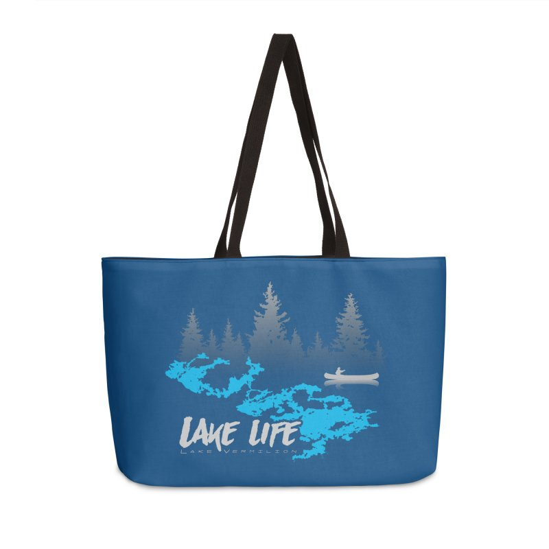 Lake Vermilion | Lake Life | Light Lettering Accessories Weekender Bag Bag by Your Lake Apparel & Accessories