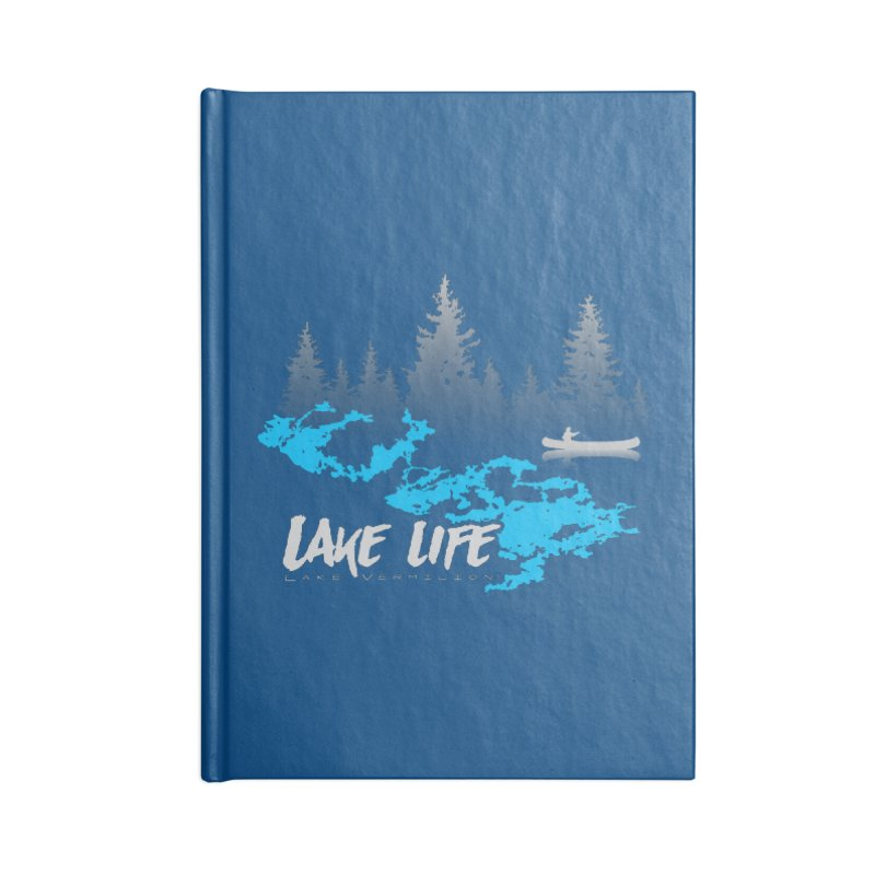 Lake Vermilion | Lake Life | Light Lettering Accessories Blank Journal Notebook by Your Lake Apparel & Accessories