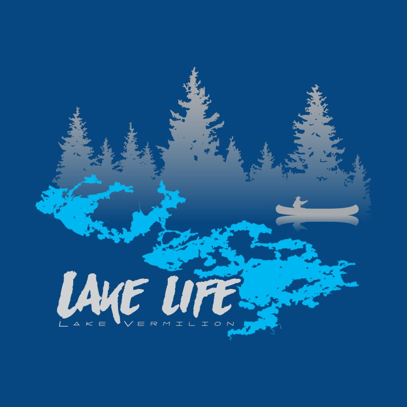 Lake Vermilion | Lake Life | Light Lettering Home Fine Art Print by Your Lake Apparel & Accessories