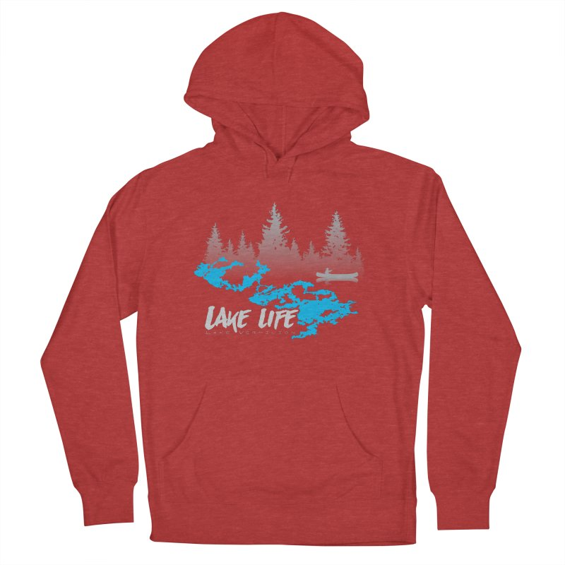 Lake Vermilion | Lake Life | Light Lettering Women's French Terry Pullover Hoody by Your Lake Apparel & Accessories