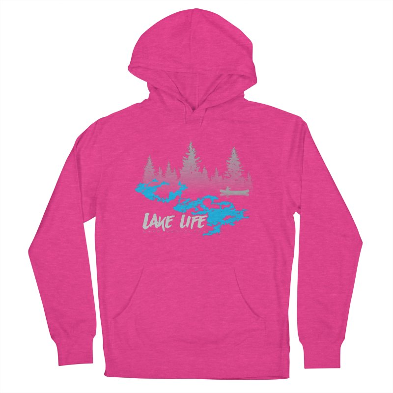 Lake Vermilion | Lake Life | Light Lettering Men's French Terry Pullover Hoody by Your Lake Apparel & Accessories