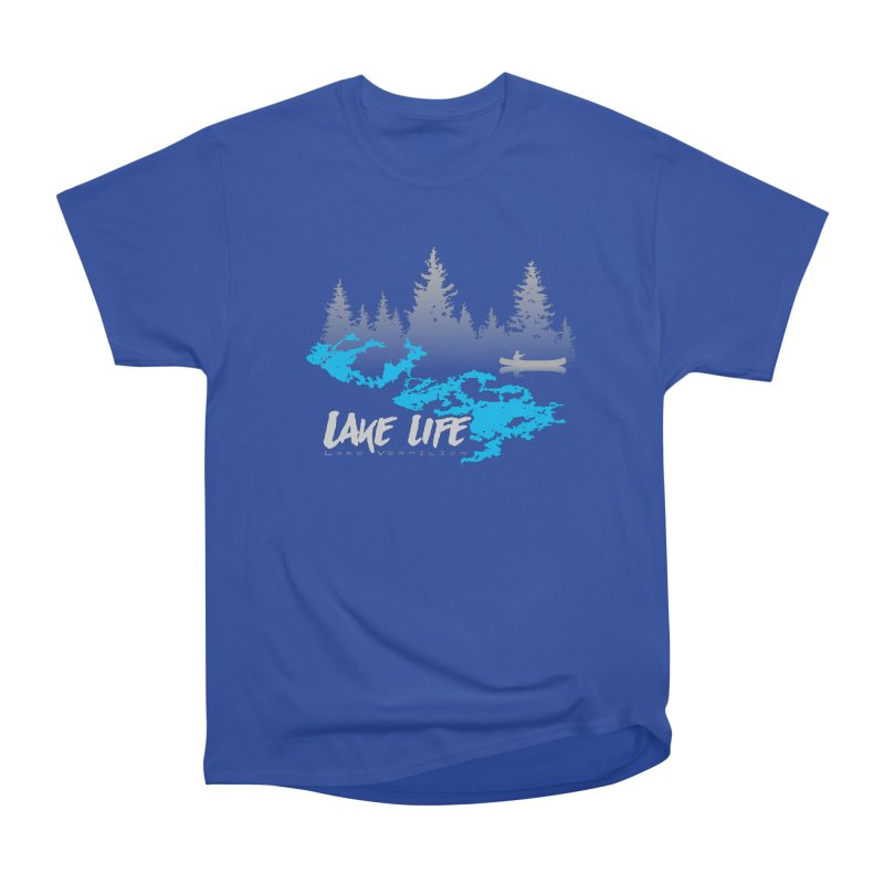 Lake Vermilion | Lake Life | Light Lettering Men's Heavyweight T-Shirt by Your Lake Apparel & Accessories