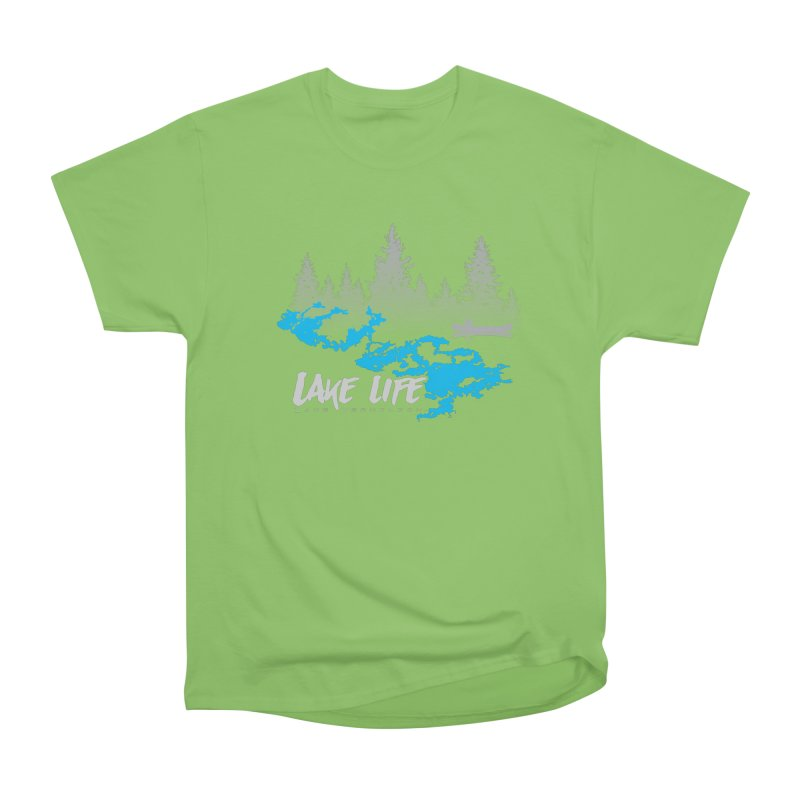 Lake Vermilion | Lake Life | Light Lettering Women's Heavyweight Unisex T-Shirt by Your Lake Apparel & Accessories