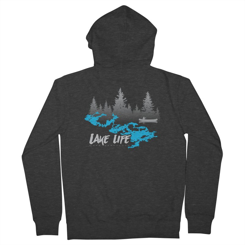 Lake Vermilion | Lake Life | Light Lettering Women's French Terry Zip-Up Hoody by Your Lake Apparel & Accessories