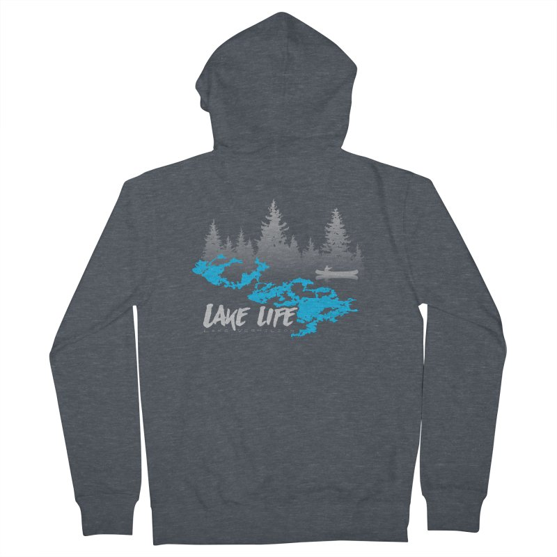 Lake Vermilion | Lake Life | Light Lettering Men's French Terry Zip-Up Hoody by Your Lake Apparel & Accessories