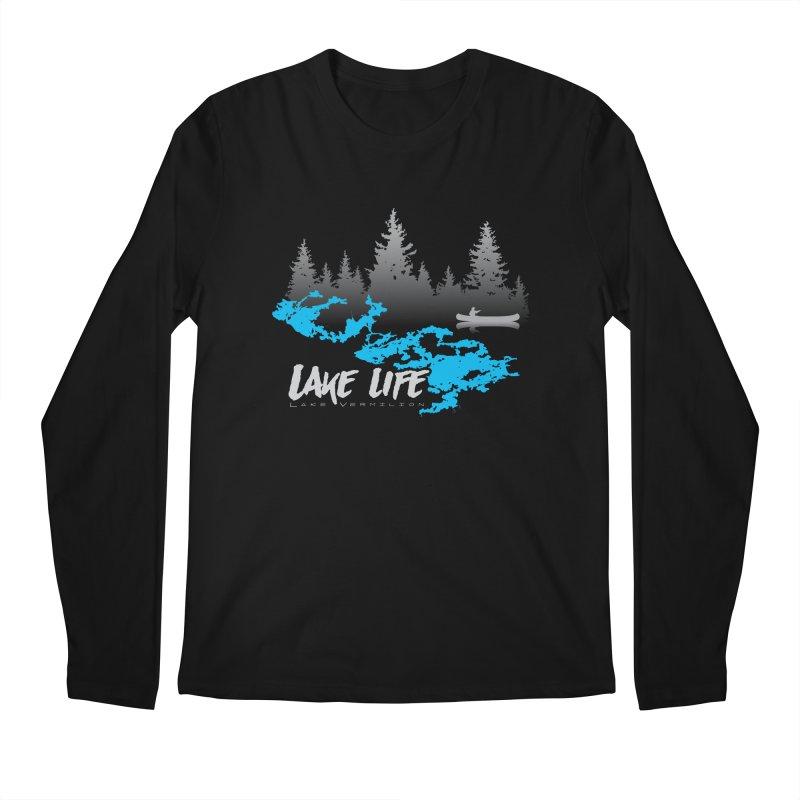 Lake Vermilion | Lake Life | Light Lettering Men's Regular Longsleeve T-Shirt by Your Lake Apparel & Accessories