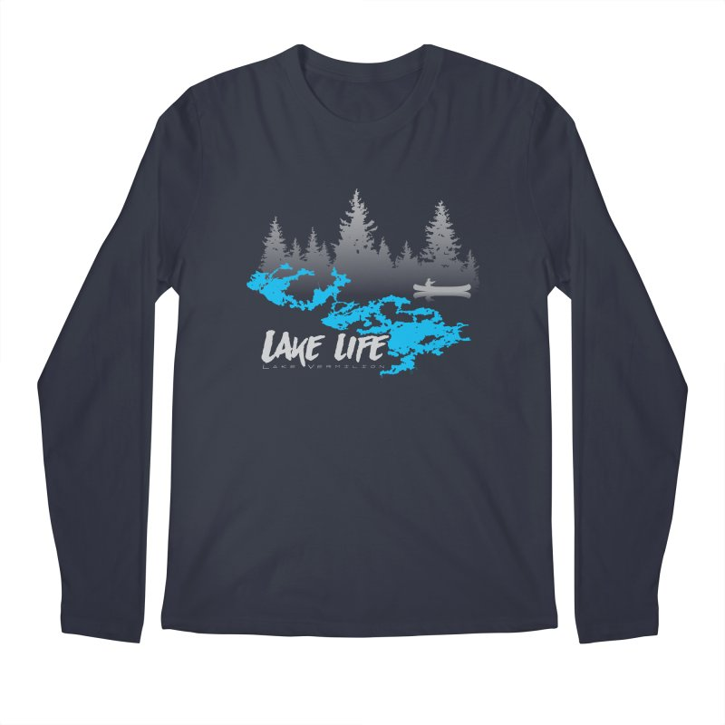 Lake Vermilion | Lake Life | Light Lettering Men's Regular Longsleeve T-Shirt by Your Lake Apparel & Accessories