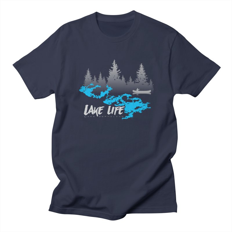 Lake Vermilion | Lake Life | Light Lettering Men's Regular T-Shirt by Your Lake Apparel & Accessories