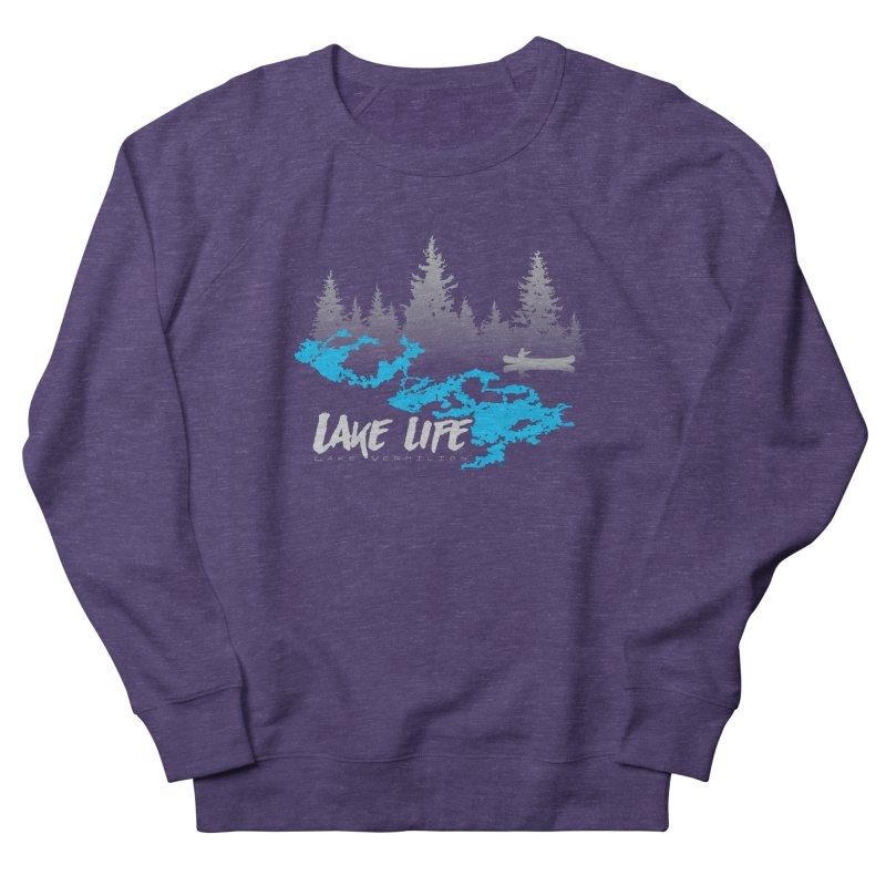 Lake Vermilion | Lake Life | Light Lettering Women's French Terry Sweatshirt by Your Lake Apparel & Accessories