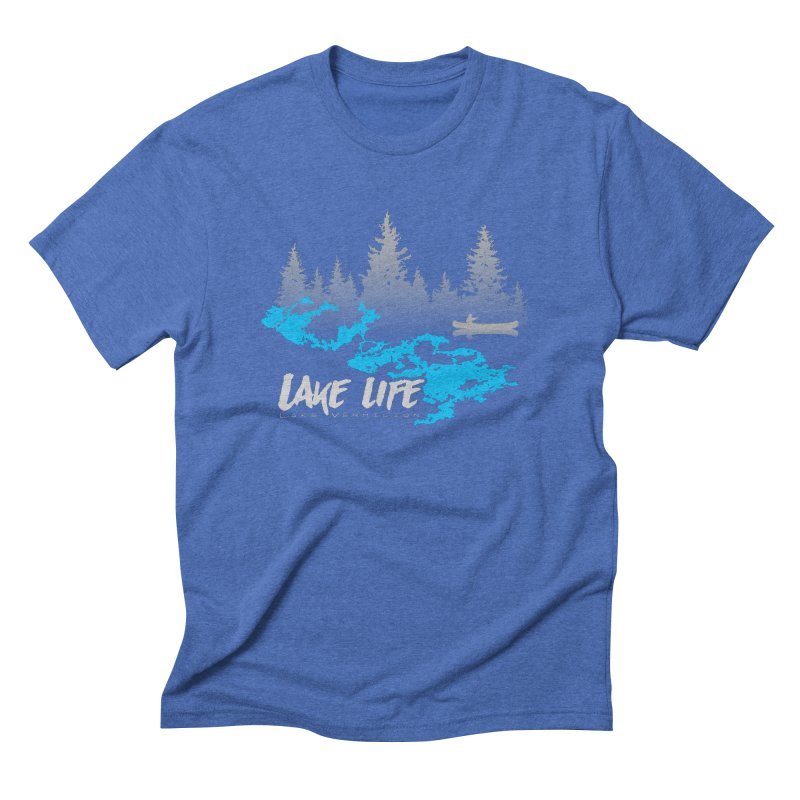 Lake Vermilion   Lake Life   Light Lettering Men's Triblend T-Shirt by Your Lake Apparel & Accessories