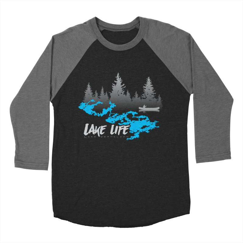 Lake Vermilion | Lake Life | Light Lettering Men's Baseball Triblend Longsleeve T-Shirt by Your Lake Apparel & Accessories