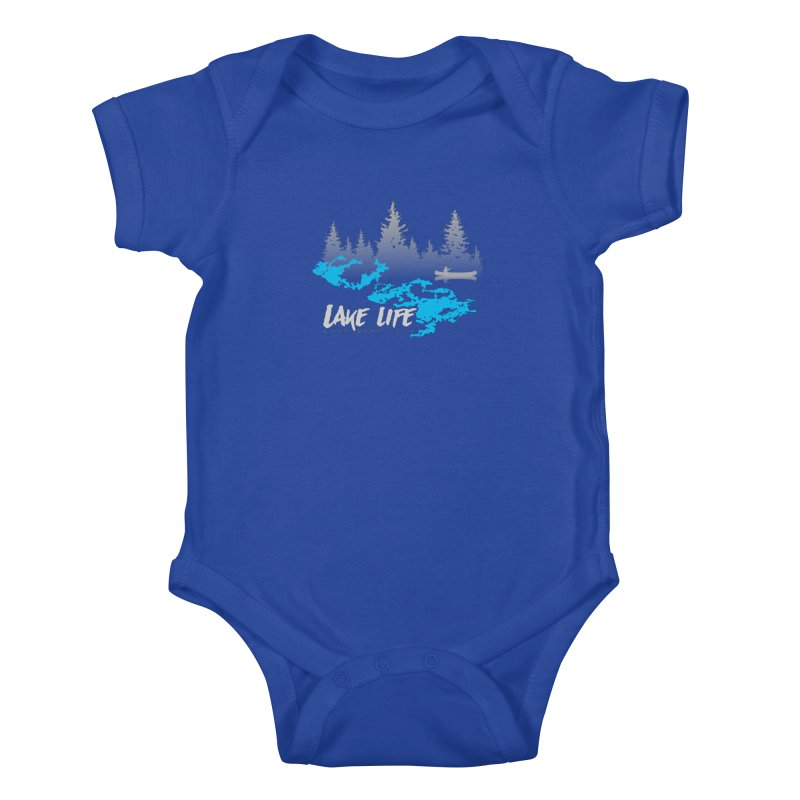 Lake Vermilion | Lake Life | Light Lettering Kids Baby Bodysuit by Your Lake Apparel & Accessories
